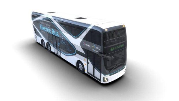 هیوندای اتوبوس دو طبقه برقی با برد 186  مایل  را به خط تولید برد